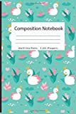 Composition Notebook: Pretty Wide Ruled Paper Notebook...