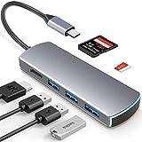 XDDIAS 6 in 1 USB C Hub, Laptop Docking Station Adapter...