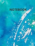 Notebook: Turquoise Watercolor Surface Ruled...