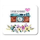 Mauspads Rosa Fotograf Fotografieren Sie den Moment...