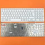 DE Weiß Tastatur mit Silber Rahmen ohne Beleuchtung...