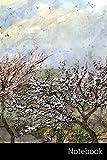 Notebook: Blossom Season Golden Age, Outdoor, Windmill,...