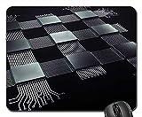 Mauspad Hintergrund Des Prozessor-Elektronik-Chips...