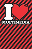 Notebook lined: Multimedia Gifts - Funny I love...