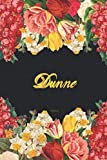 Dunne Notebook: Lined Notebook / Journal with...
